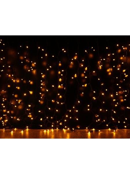Curtain (штора) чорний кабель - 912 LED 2х3м - жовтий