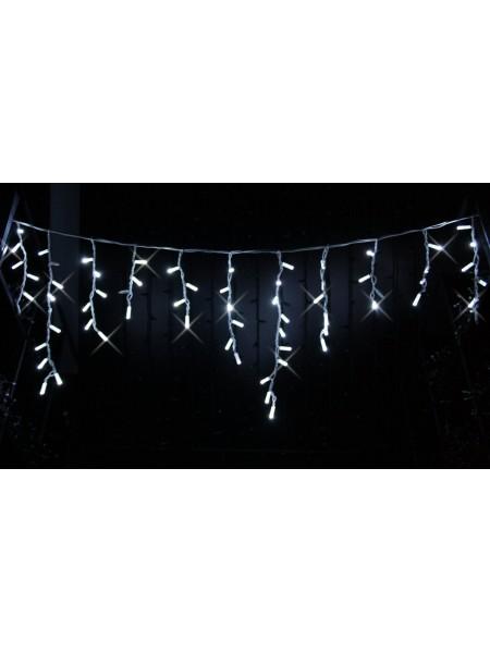 Icicle (бахрома) Flicker / Flash (мерехтіння, флеш білого кольору) білий кабель - 120 LED 2.0х0.9м - холодний білий