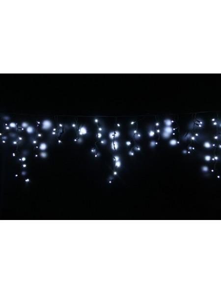 Icicle (бахрома) Static (статичний, без мигання) чорний кабель - 90 LED 2.0х0.5м - холодний білий (10203001) Гирлянды - интернет - магазин Моя Лампа ™