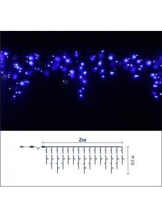 Icicle (бахрома) Static (статичний, без мигання) чорний кабель - 90 LED 2.0х0.5м - синій (10203006) Гірлянди - інтернет - магазині Моя Лампа ™