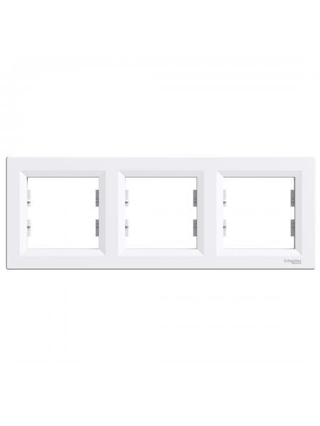 эл.рамка SCHNEIDER ASFORA EPH5800321 3-я горизонт.белая (EPH5800321) Розетки и выключатели - интернет - магазин Моя Лампа ™