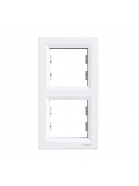 эл.рамка SCHNEIDER ASFORA EPH5810221 2-я вертик. белая (EPH5810221) Розетки и выключатели - интернет - магазин Моя Лампа ™