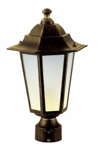 светильник садово-парковый PALACE A03 60 Вт Е27 черный-золото - (10103961) (10103961) Товары снятые с производства - интернет - магазин Моя Лампа ™