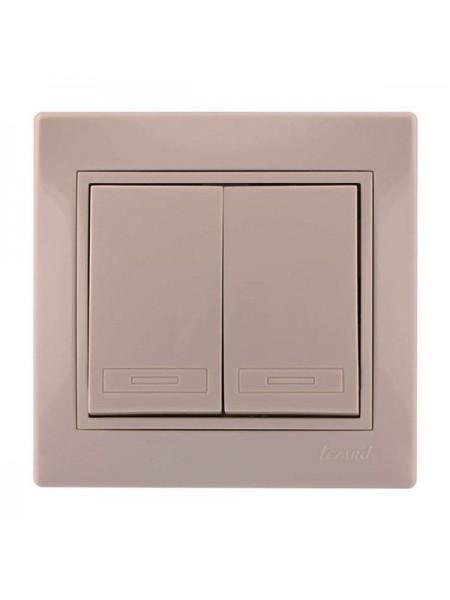 Выключатель двойной Mira701-0303-101 LEZARD кремовая (701-0303-101) Розетки и выключатели - интернет - магазин Моя Лампа ™