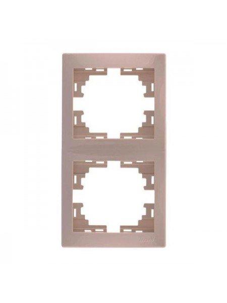 Рамка 2-а вертикальна б/вст Mira 701-0303-152 LEZARD кремова (701-0303-152) Розетки і вимикачі - інтернет - магазині Моя Лампа ™