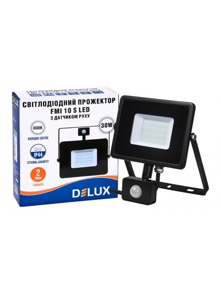 светодиодный прожектор  DELUX FMI 10 S LED 30Вт 6500K IP65 с датч. движ. - (90008737) (90008737) LED Прожекторы - интернет - магазин Моя Лампа ™