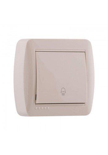 Кнопка звонка крем Lezard Demet 711-0300-103 (711-0300-103) Розетки и выключатели - интернет - магазин Моя Лампа ™