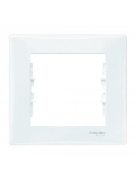Рамка 1 постова Sedna SDN5800121 білий (SDN5800121) Розетки і вимикачі - інтернет - магазині Моя Лампа ™