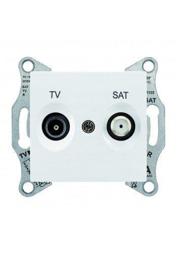 Розетка TV/SAT, оконечная, 1 dB  Sedna SDN3401621 белый (SDN3401621) Розетки и выключатели - интернет - магазин Моя Лампа ™